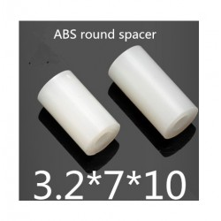 Espaciador M3 * 10mm Nylon, OD (7 MM) X ID (3.2mm) * 10mm (pack de 10)
