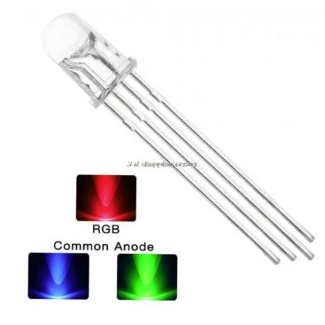 LED RGB Cátodo Común 5mm 4pin
