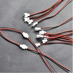 Juego conectores macho-hembra batería Mirco 2 pins
